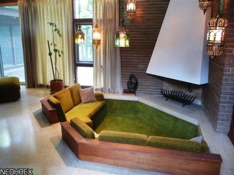 Conversation Pit Is OK But We Would Prefer A Small Sunken Sitting Room Area Instead