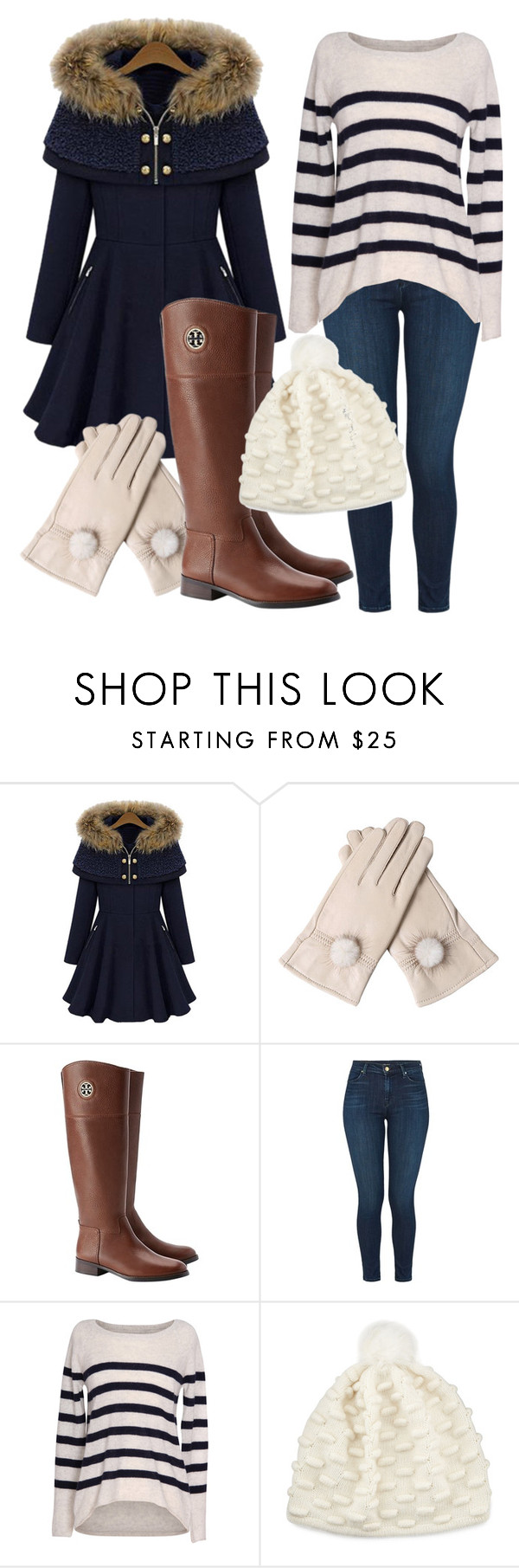 """""""Denim Winter"""" by songbird1413 on Polyvore featuring Tory Burch, J Brand, Velvet by Graham & Spencer and Portolano"""