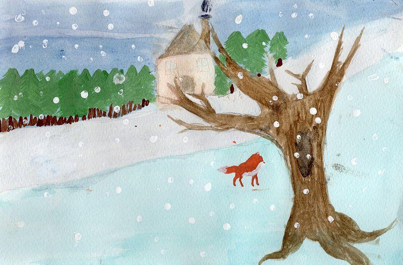 Fine Arts: Christmas Card in Watercolour #KASE #KASEArt #Georgetown #Ontario #Art