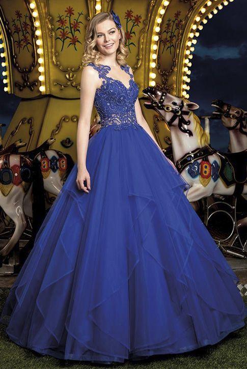 2a9d37694 Vestido 15 anos Cotton Candy 07 Center Debutantes Azul   Vestido rodado