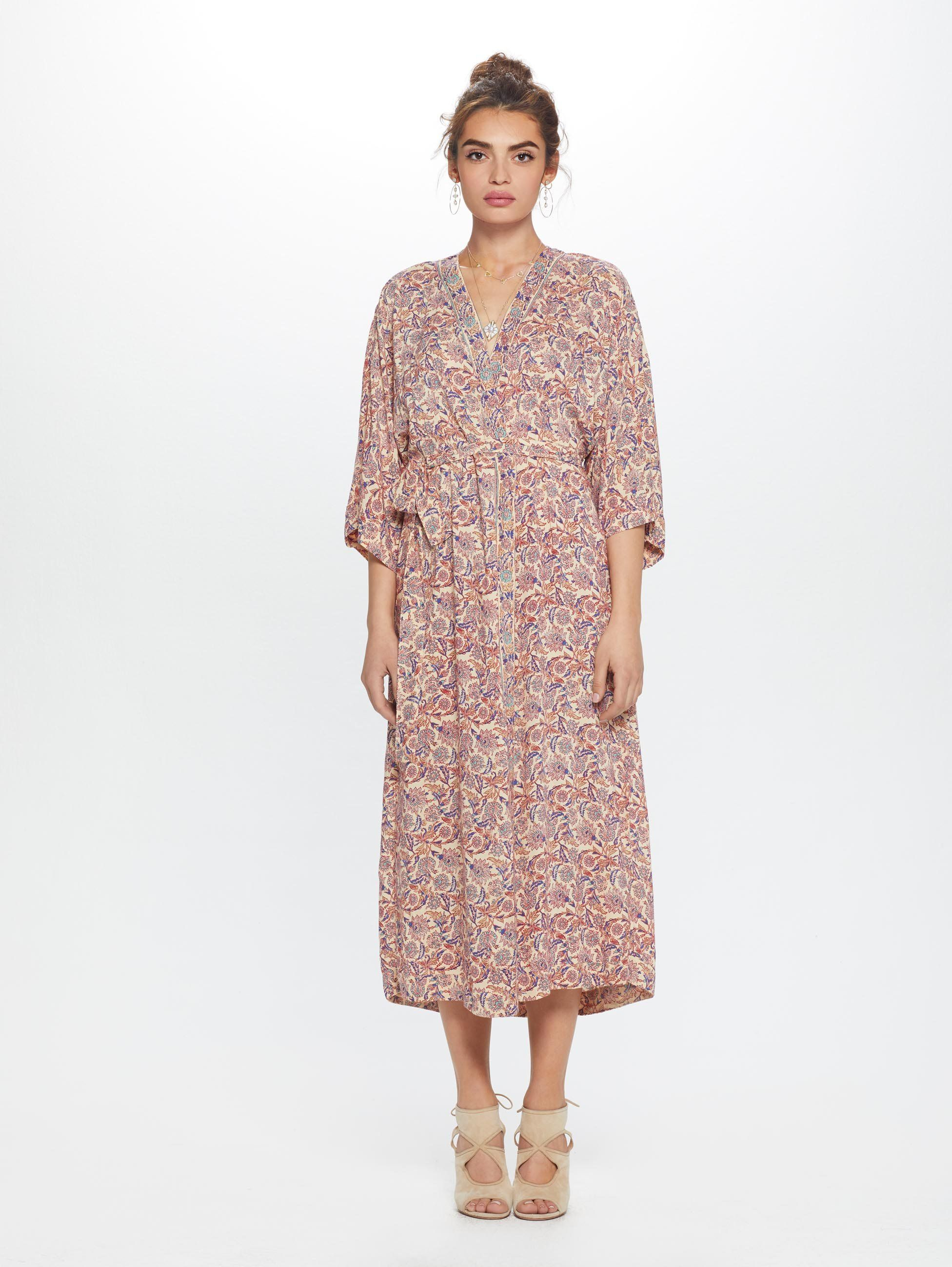 1d1d7f528fad All wrapped up. Natalie Martin's kimono-inspired dress now in the dreamiest  of floral prints. Imported. Style no. T299-611-NOC, R009