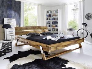 Bett-140x200-Wildeiche-Bettgestell-massiv-Holz-Schlafzimmer-Moebel ...