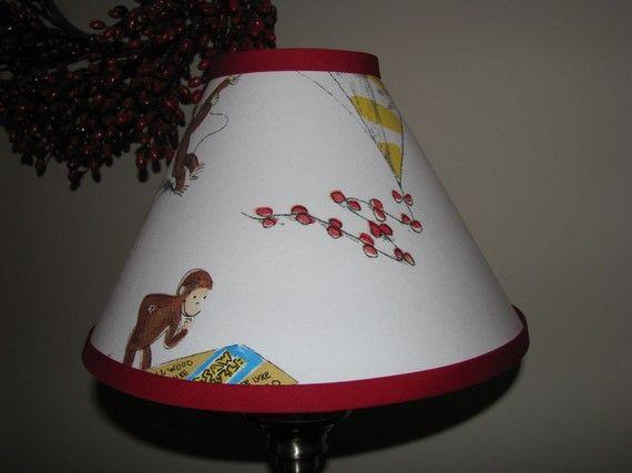 Curious George Lamp shade nursery bedroom babys room boys room girls room desk