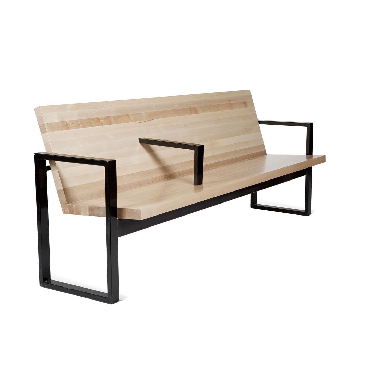 Outdoor furniture garden bench commercial metal outdoor furniture - Garden Bench Contemporary Wooden Metal By Efs Balzar Beskow