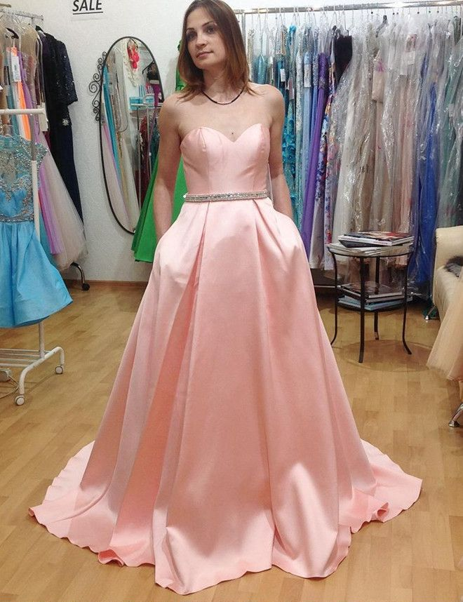 Charming Prom Dress, Long Pink Prom Dresses, Sexy | Vestidos ...