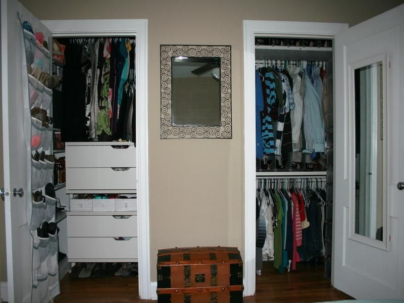 Closets & Storages, : Small IKEA Pax Closet System With Mirror ...