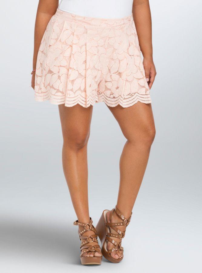 Plus Size Flowy Lace Shorts Plus Size Fashion Lace Shorts Lace