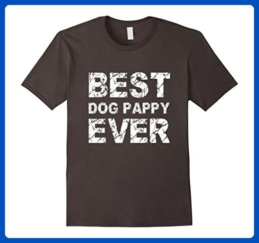961fa1f5f289 Mens Best Dog Pappy Ever Gift Idea T Shirt For Daddy & Pet Love XL Asphalt  - Animal shirts (*Amazon Partner-Link)