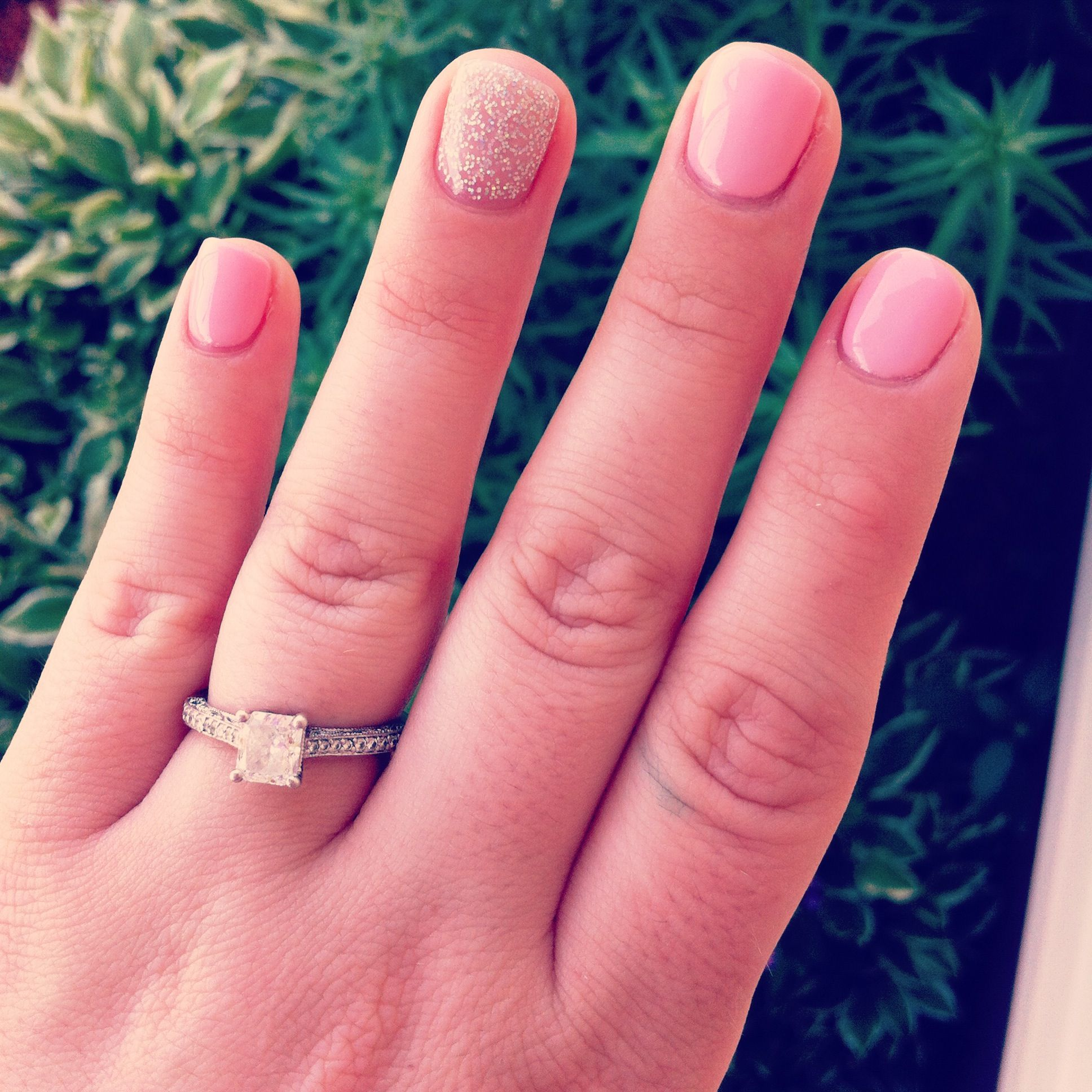 Got my claws done! No more pink and white until the wedding... Not ...