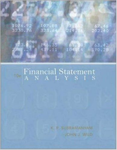 Textbook Solutions Manual For Financial Statement Analysis Th