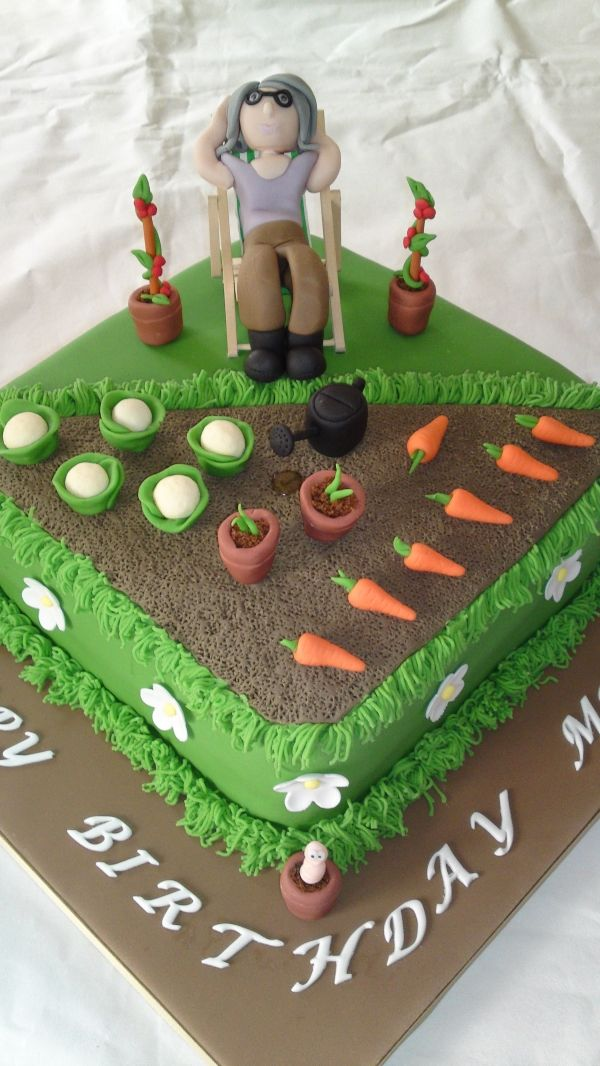 Allotment Cake Beautiful Cakes In 2019 Allotment
