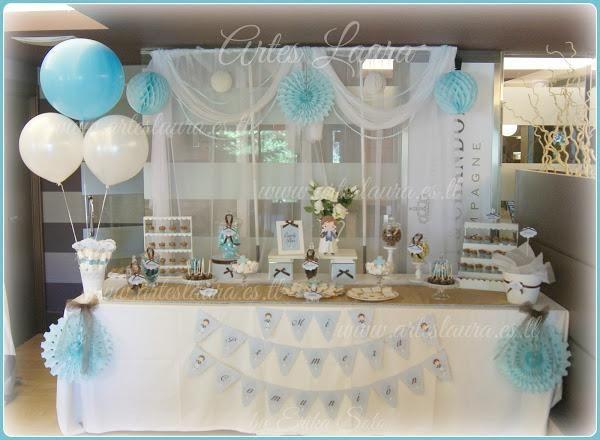 Candy Bar o mesa dulce personalizada para primera comunión ...