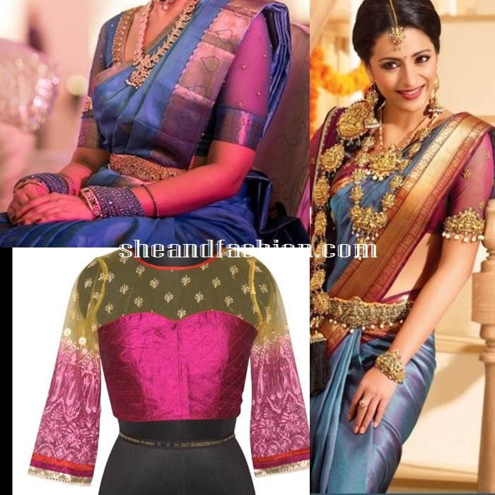 silk saree blouse design   blouse blouse designs