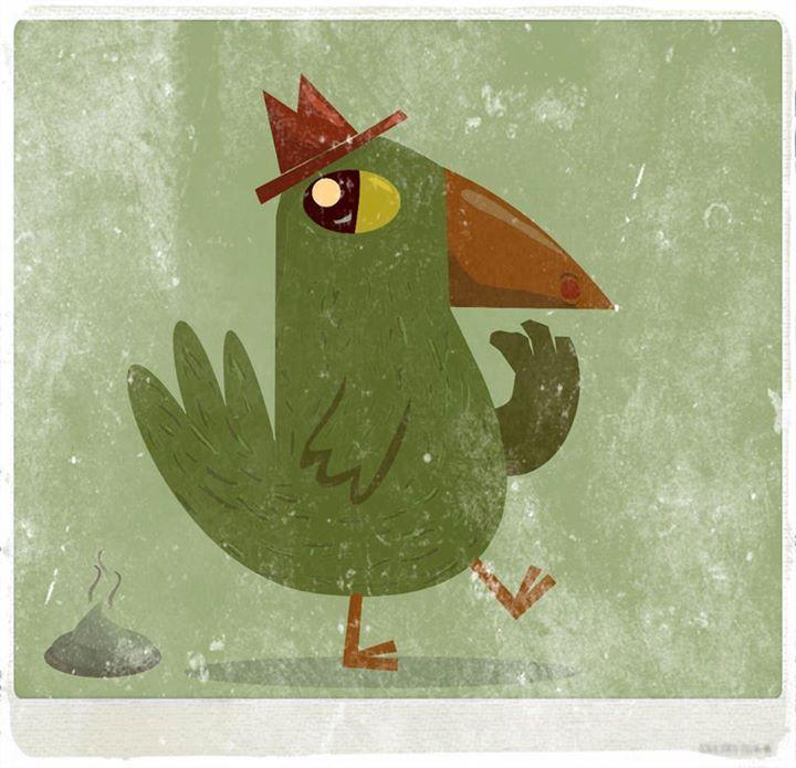 Instatntánea de un pájaro