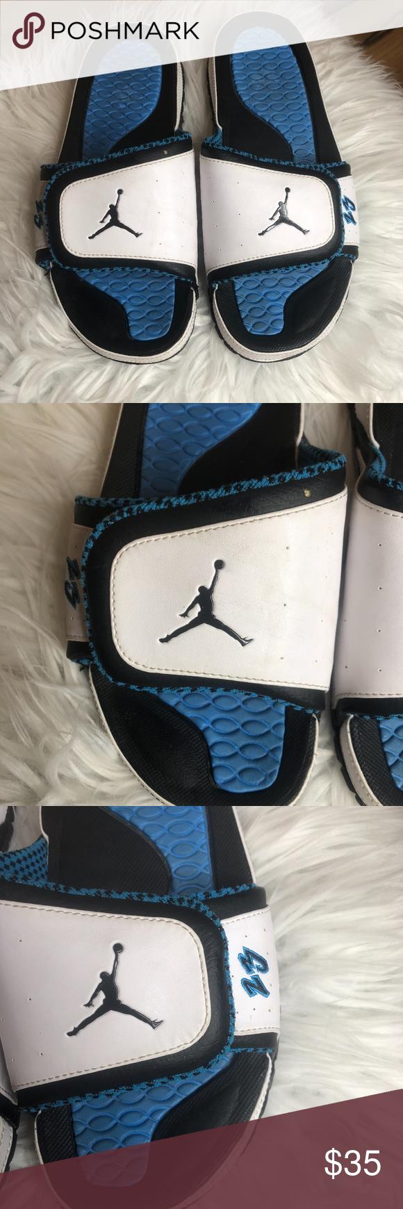 bde43dcae7dd Air Jordan Slides White and Blue Men s 8 size 8 in mens