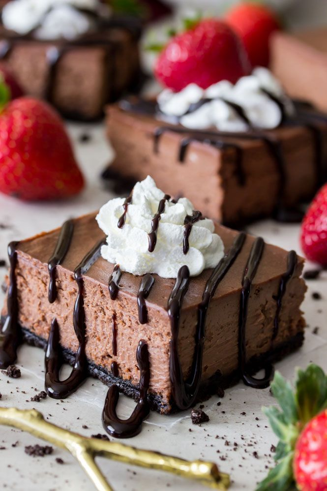 Chocolate cake baked in water bath