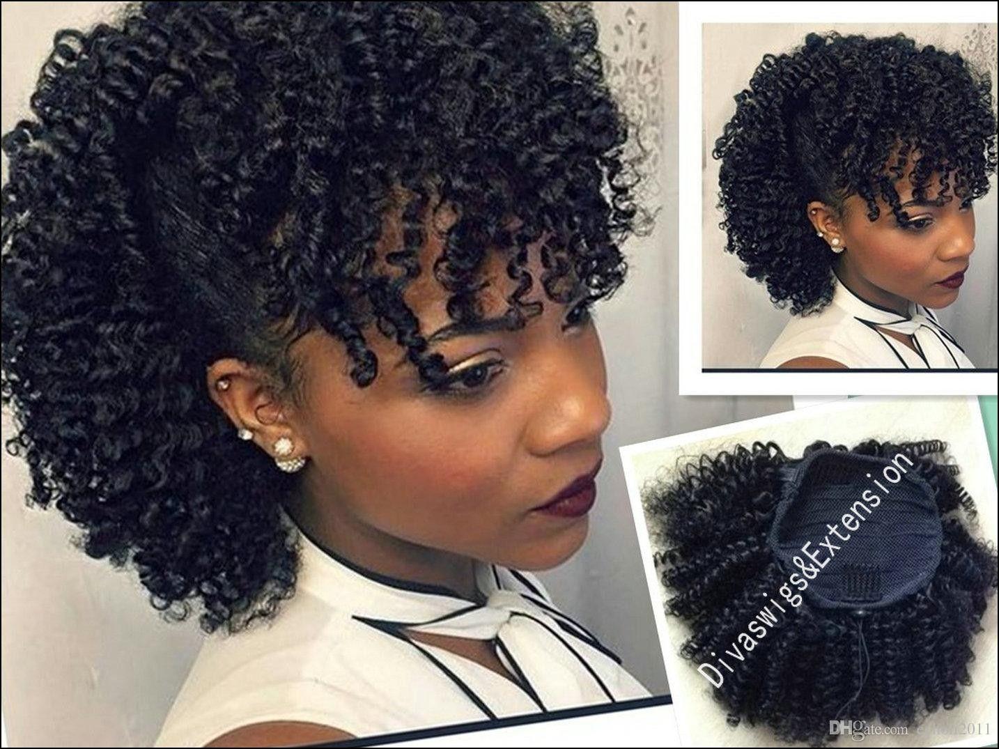 drawstring ponytail hairstyles for black hair | ponytails