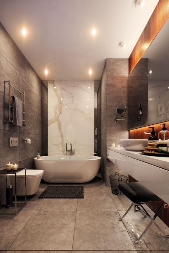 Ein Badezimmer In Braun Ist Voller Warme Luxus Und Stil Fresh Ideen Fur Das Interieur Dekoration Und Landschaft Badezimmer Innenausstattung Schlafzimmer Design Luxusbadezimmer