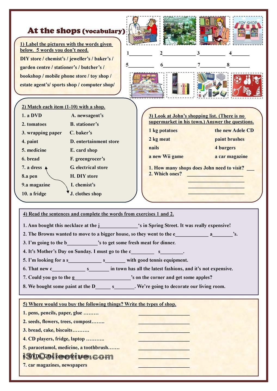 At The Shops Vocabulary Vocabulary Vocabulary Worksheets English Vocabulary [ 1440 x 1018 Pixel ]