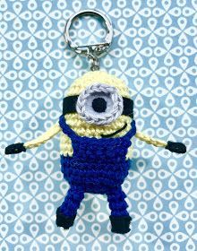 stuff susie made: Mini Minion Keyring Crochet Pattern #minioncrochetpatterns stuff susie made: Mini Minion Keyring Crochet Pattern #minioncrochetpatterns