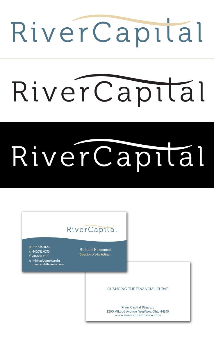 River Capital Logo And Business Card Design Our Work Pinterest