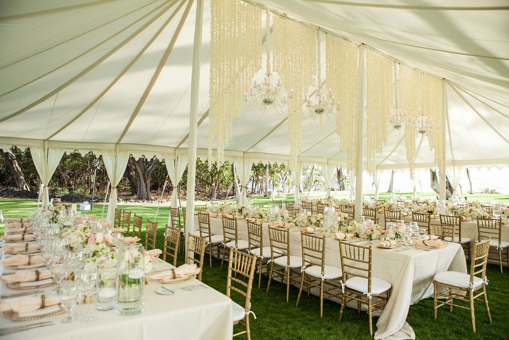 Classic White Wedding In Maui For Raj Tents Classic
