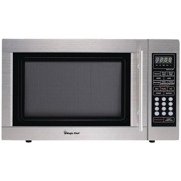 1 3 Cubic Ft Countertop Microwave Stainless Steel Magic Chef Microwave Oven Microwave