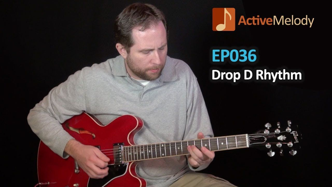 Drop D Tuning Electric Blues Rhythm Guitar Lesson Ep036 Music