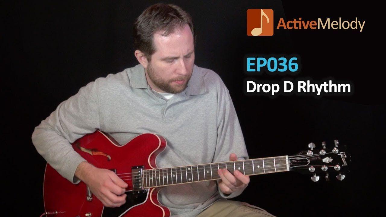 Drop d tuning electric blues rhythm guitar lesson ep036