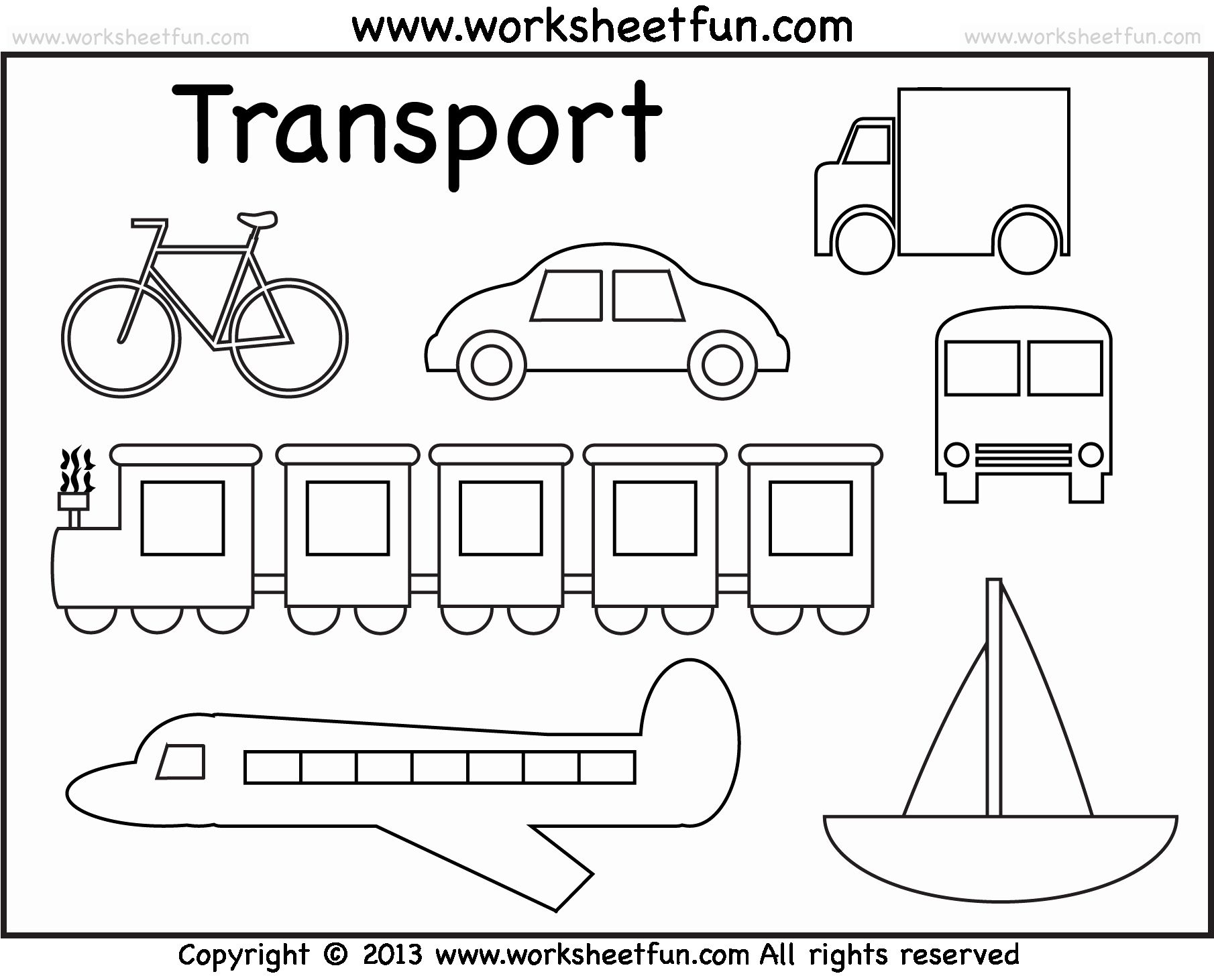 Coloring Means Of Transport In