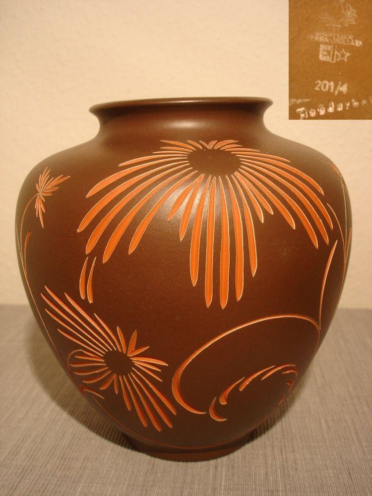 Details Zu Wormser Terra Sigillata Worms Keramik Vase 50er