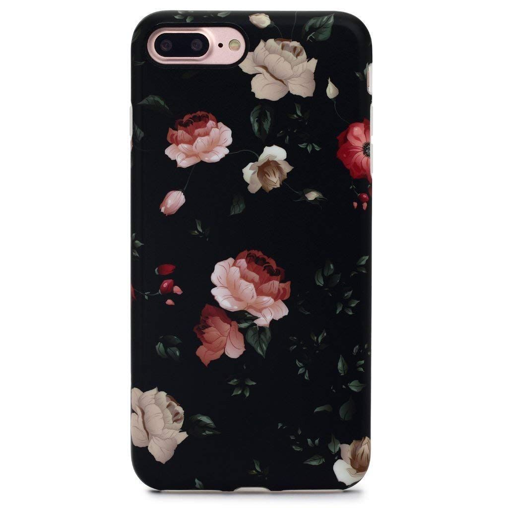 the latest 4d82b 85ced iPhone 7 Plus Case for Girls/iPhone 8 Plus Floral Case, MATTE Floral ...