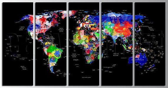 Political abstract flags world map diptych triptych multi panel political abstract flags world map diptych triptych multi panel large canvas print gallery wrap gicle art dcor free shipping 40 off sale gumiabroncs Choice Image