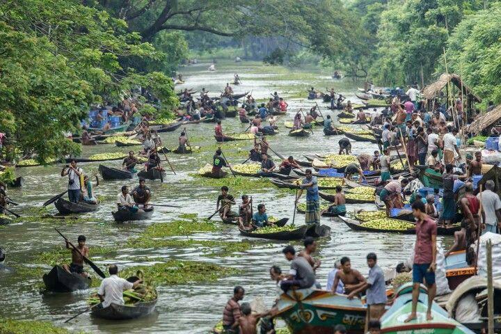 Floating Market, Jhalokathi, Bangladesh.