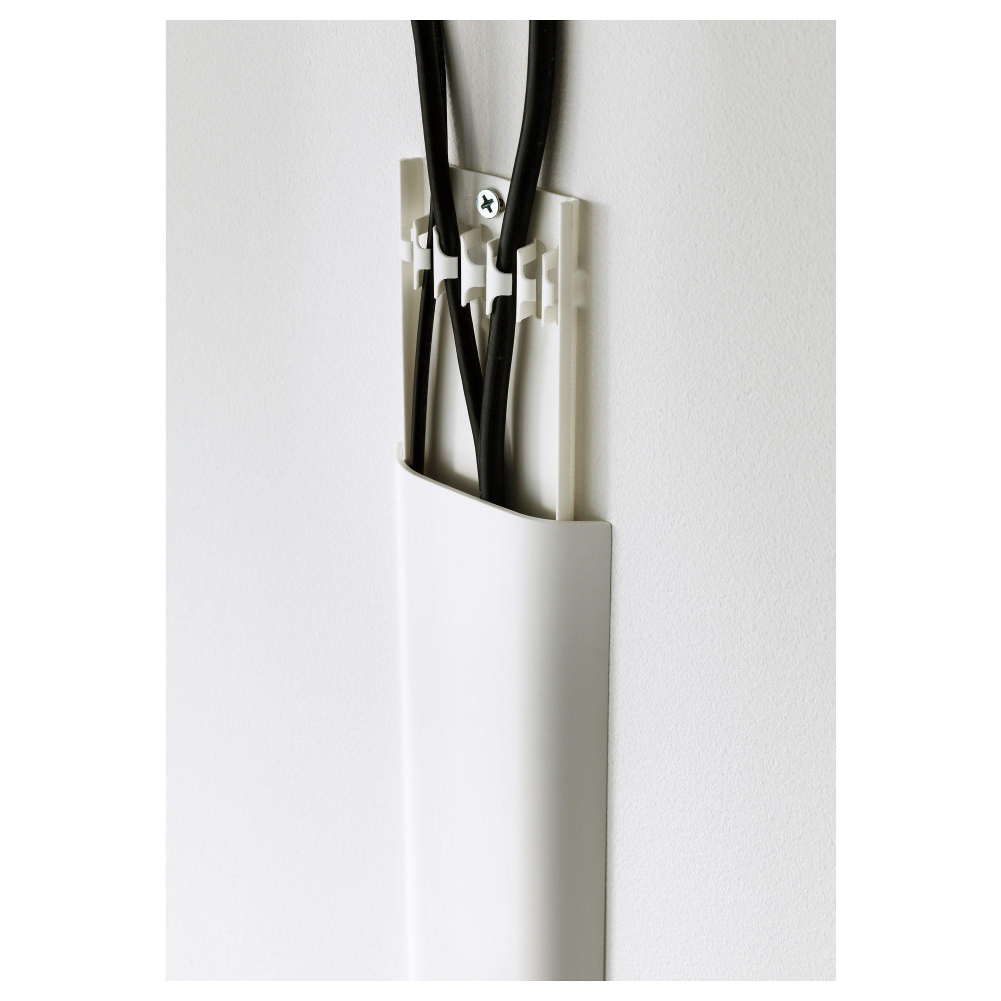IKEA - UPPLEVA Cord cover strip white | Organizations, Wall ideas ...