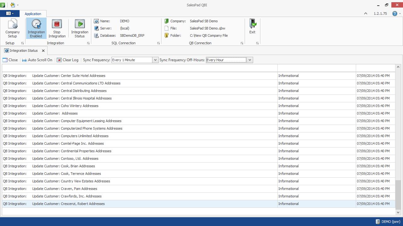 SalesPad Integrator Quickbooks, Names