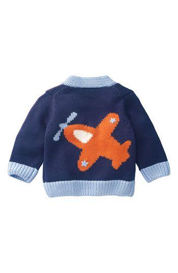 Mini Boden Tipped Logo Cardigan (Infant | Mini boden, Kids ...