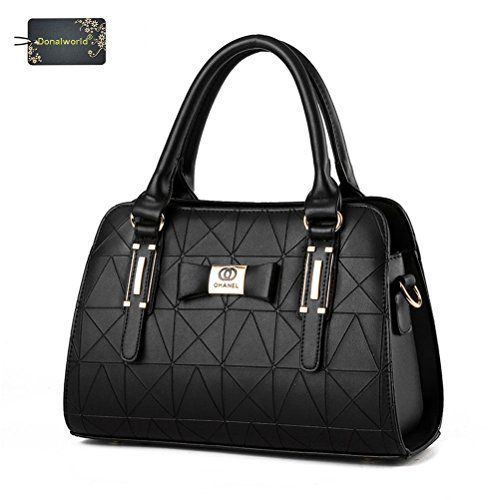 Donalworld Ladies PU Leather Shoulder Bag Tote Designer Celebrity Handbag - http://handbags.kindle-free-books.com/donalworld-ladies-pu-leather-shoulder-bag-tote-designer-celebrity-handbag/