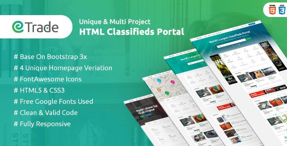 Download Free Trade Modern Classified Ads Html Template By