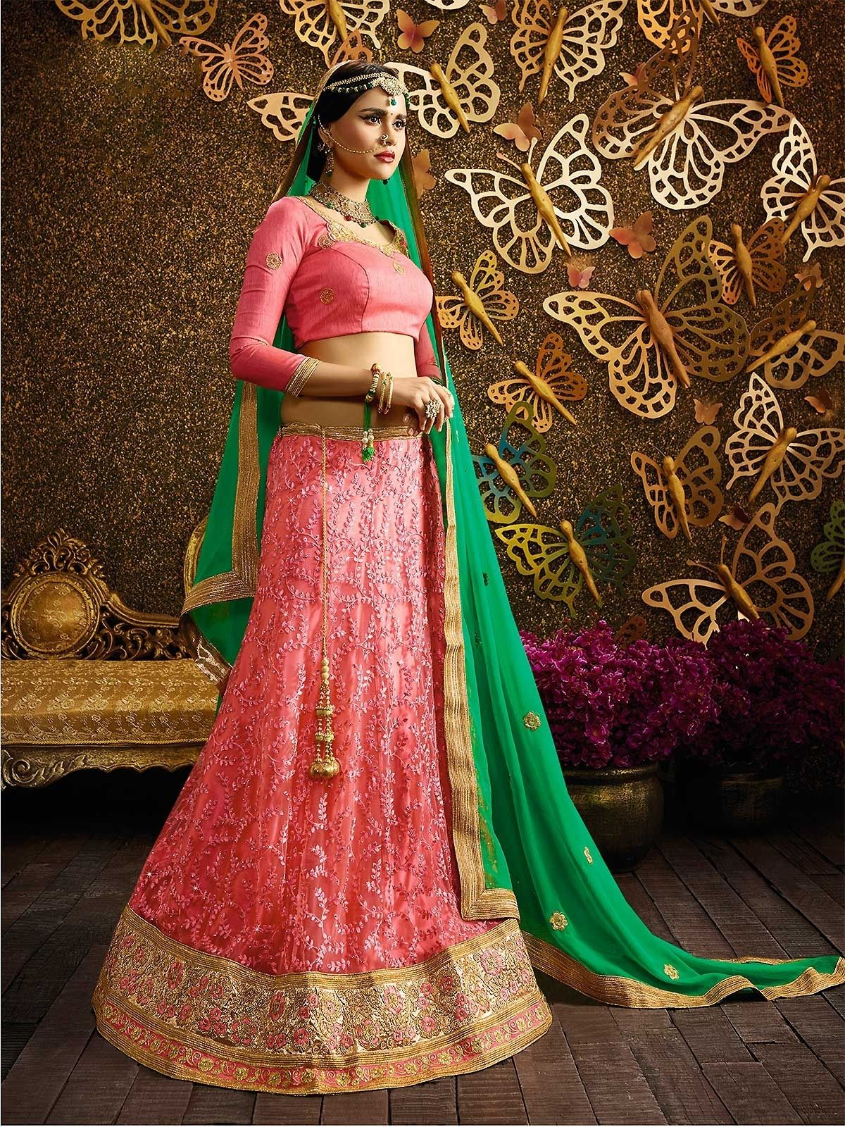 b9968f164f Buy attractive pink embroidery lehenga choli and make your attire look  richer to your persona. Explore stylish designer lehenga cholis or ghagra  cholis for ...