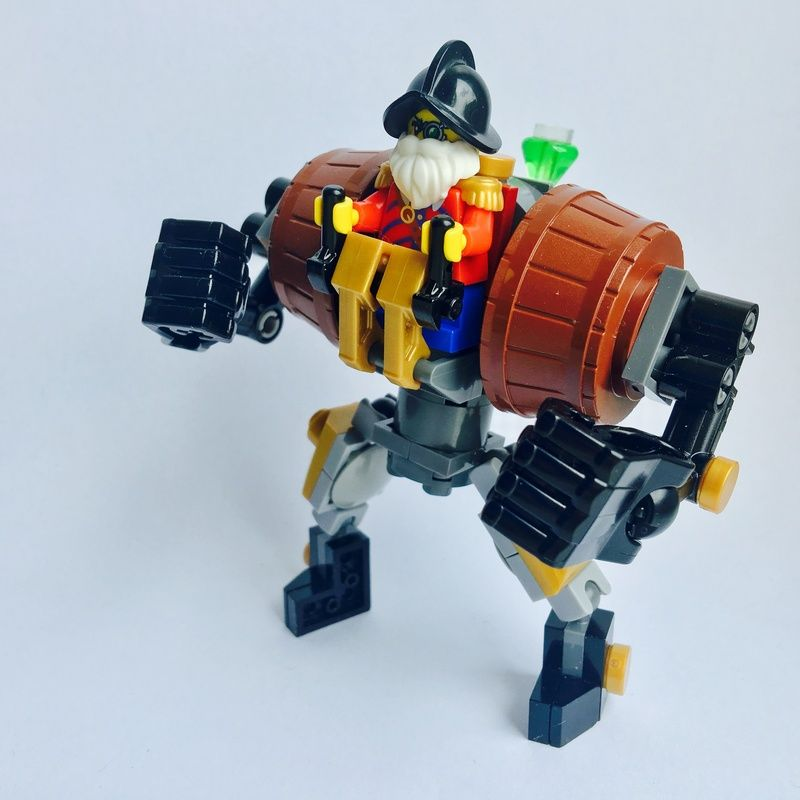 Lego Moc Moc 8194 The Boxer Dwarven Exosuit Building