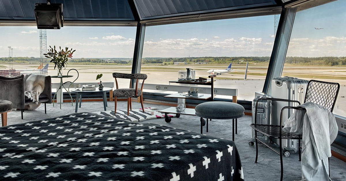 Spend the Night Inside a Former Air Traffic Control Tower