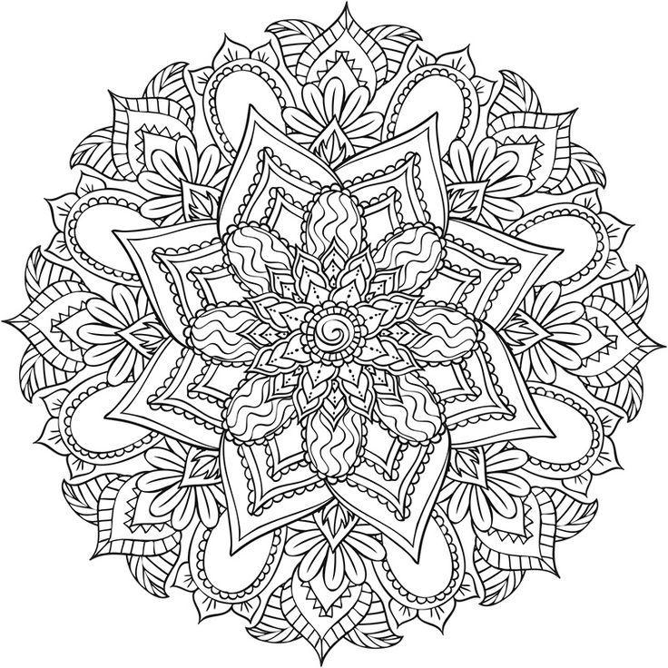 Epingle Sur Dessin De Mandala