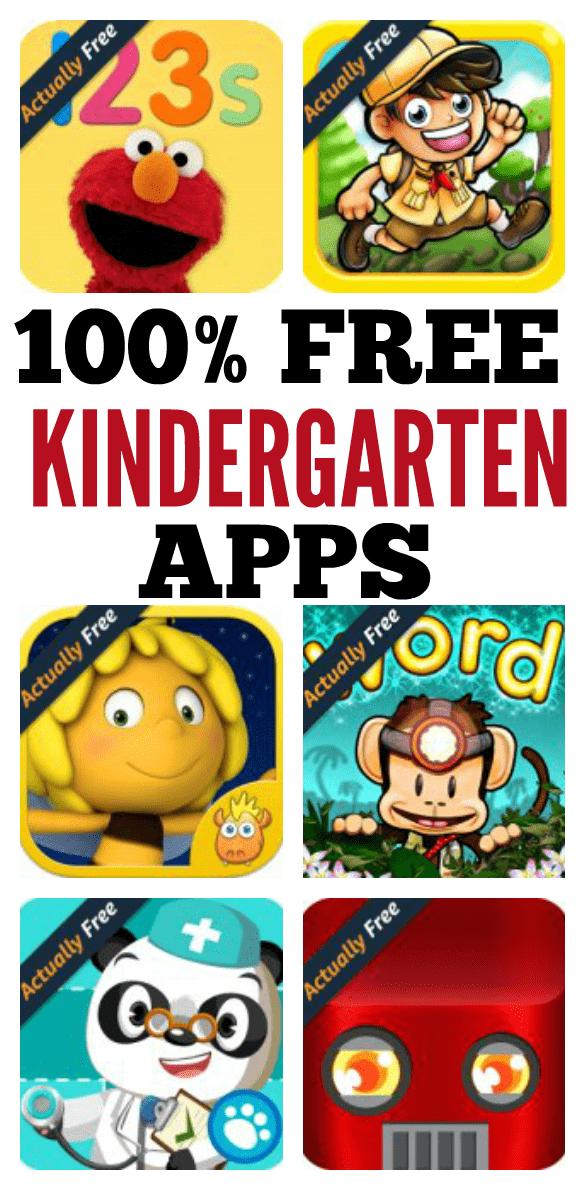 100 FREE Kindergarten Apps PIN THIS! Kindergarten