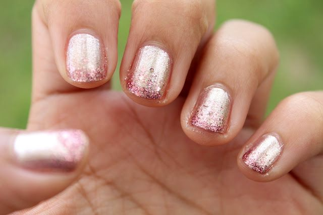 Rose Gold Ombre Nails: Orly's Rage with Butter London's Rosie Lee on the tips.
