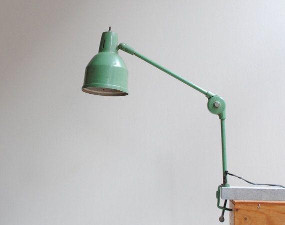 Industrial Vintage Clamp Lamp Desk Lamp In By LittleDogVintage, $75.00