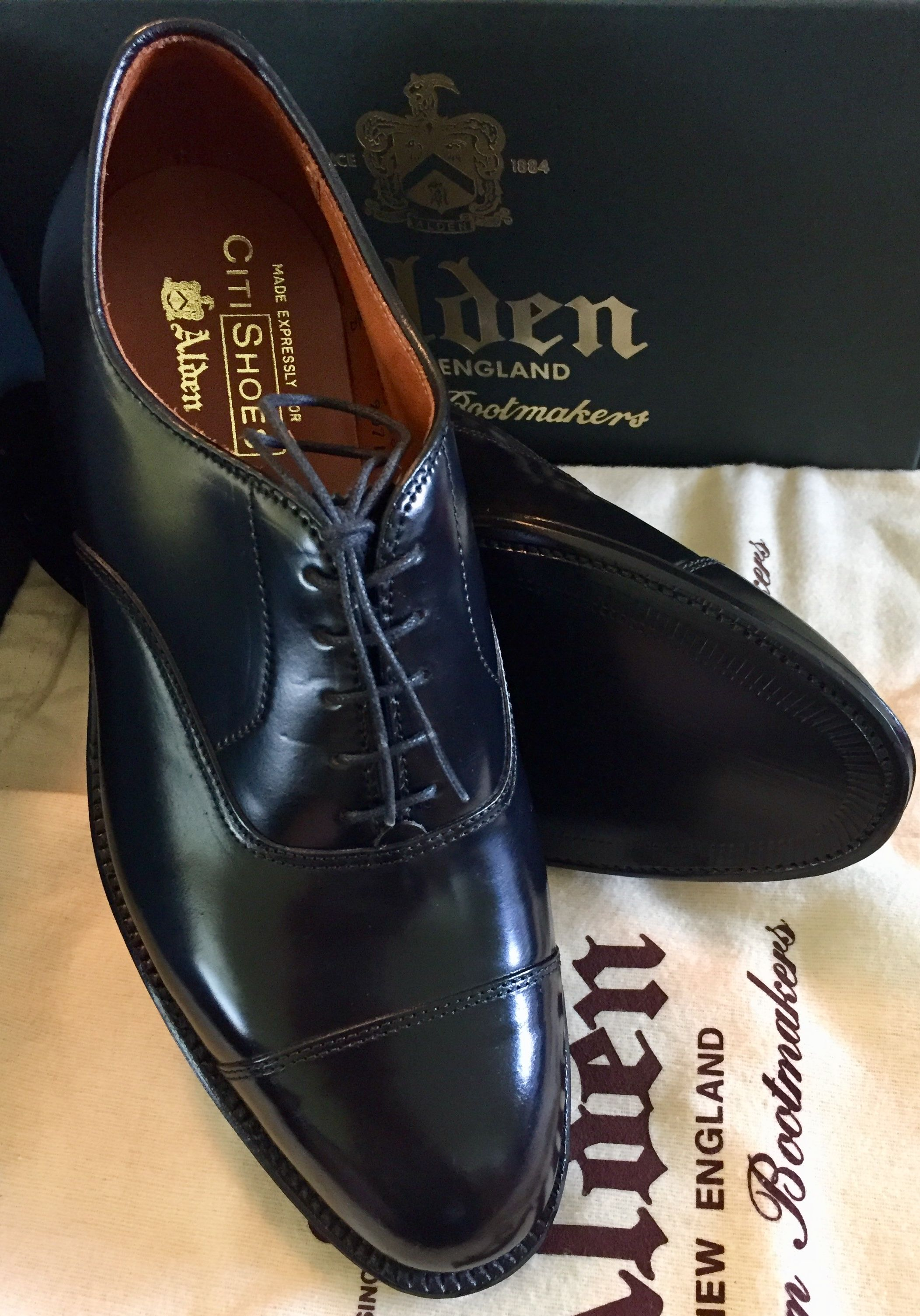4a11c5e48a3 Alden x CitiShoes 9071 Cap Toe Balmoral Oxford in Genuine Horween Black  Shell Cordovan with Single Leather Soles and Dove Tail Leather Heels Made  In USA ...