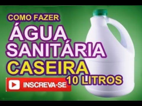 Agua Sanitaria Sem Cloro Original Caseiro Em 5 Minutos Youtube
