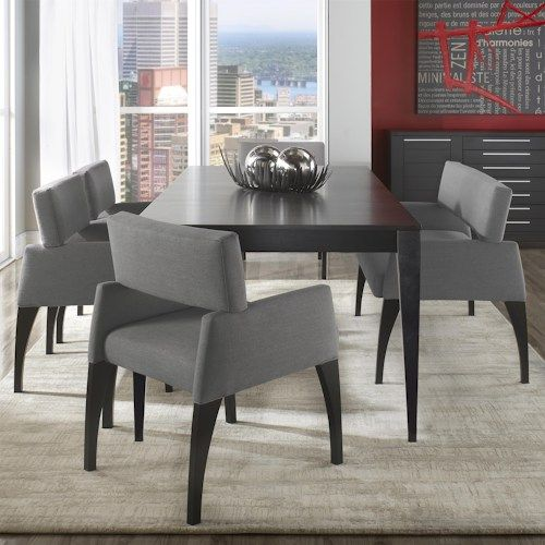 Amazing Canadel High Style   Custom Dining Modern Customizable Table Set With Bench  Available At Rotmans Furniture