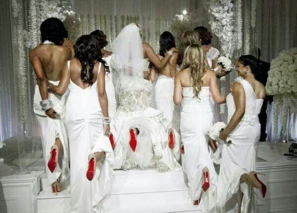 Nene Leakes Bridesmaids In Red Bottoms Leakesred Bottom Shoeswedding